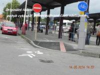 Jeronýmova ulice u autobusového nádraží